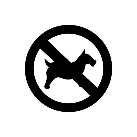 No dog sign, vector illustration