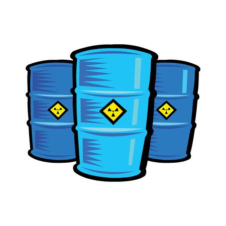 Barrels with a symbol meaning toxic Vectores