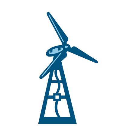 windmill isolated on a white background  イラスト・ベクター素材