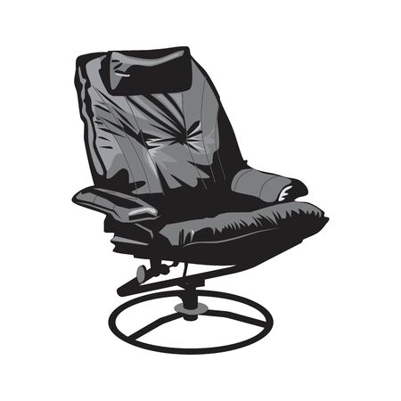Leather Office Chair on a white Stock Illustratie