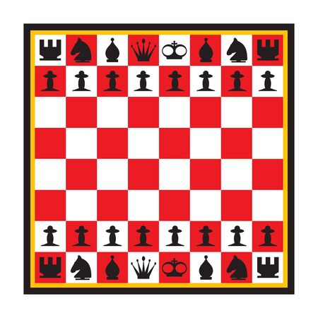 Chess. Vector illustration on a white
