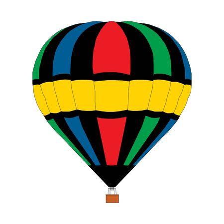 Heißluftballon auf weißem Hintergrund