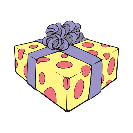 Gift box, surprise concept isolated on a white background