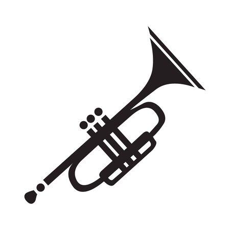 Trumpet icon Vector Illustration on the white background. Çizim