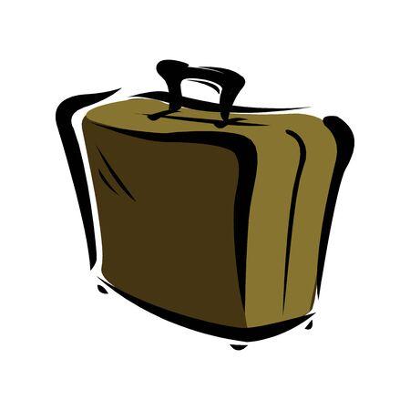 suitcase icon. vector illustration on white bacgroud Çizim
