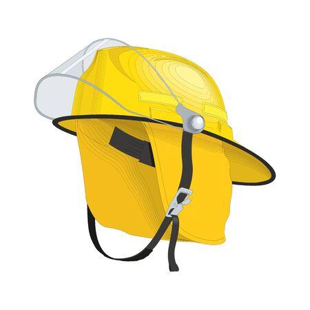Firefighter Helmet on white background
