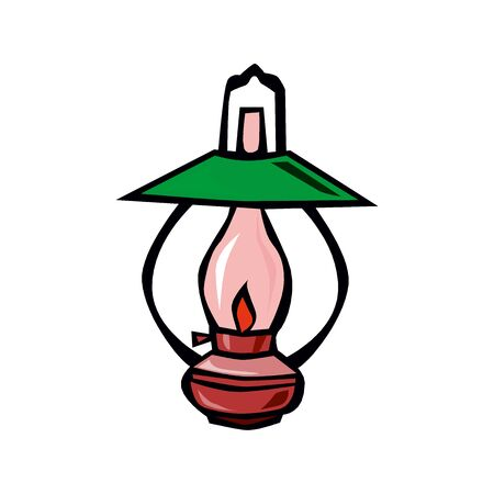 Vector illustration, lantern, card concept, white background.