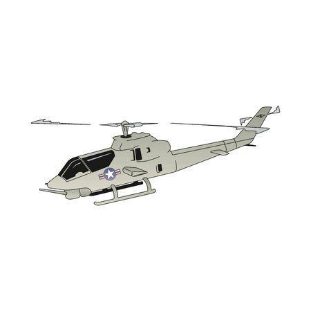 Isolierte Hubschrauber-Vektor-Illustration in EPS10 Vektorgrafik