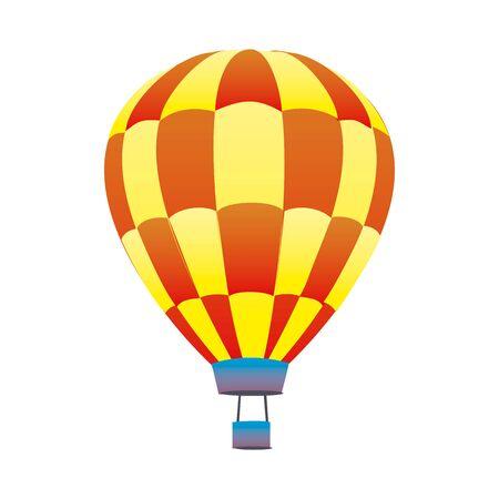 Bunter Heißluftballon in EPS10