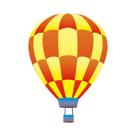 Colorful hot air balloon in EPS10