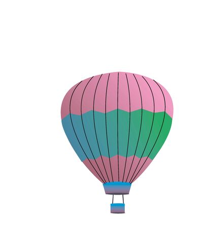 Colorful hot air balloon in EPS10 Vektorové ilustrace