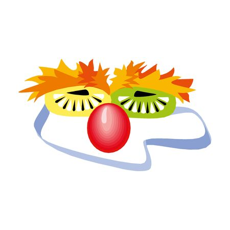 Circus mask vector illustration on a white background in EPS10