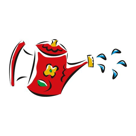 watering can icon in EPS10 Illustration