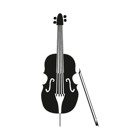 Violin isolated on white background vector illustration in EPS 10