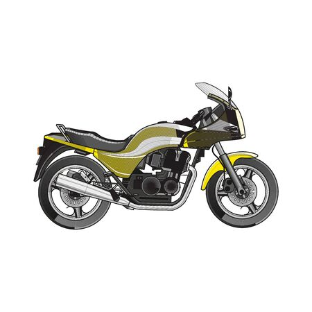Motorcycle vector, realistic on white