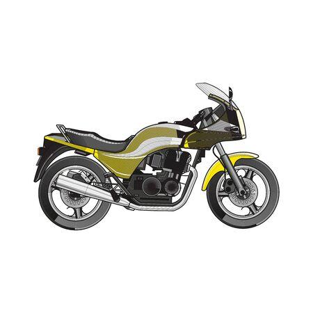 Vector de motocicleta, realista en blanco