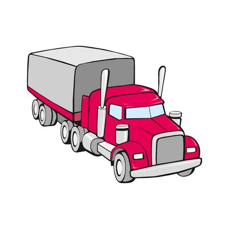 Truck vector illustration isolated on a white 版權商用圖片 - 143513029