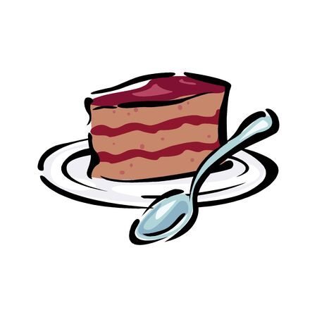 Vector illustration of dessert isolated on a white Stock Illustratie