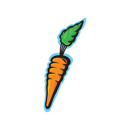 Carrots vector illustration isolated on a white Illustration