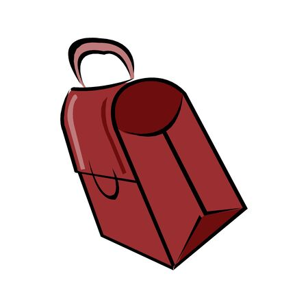 An illustration of a briefcase isolated on a white background in EPS10