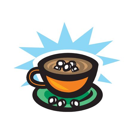 Cofee illustration isolated on a white background
