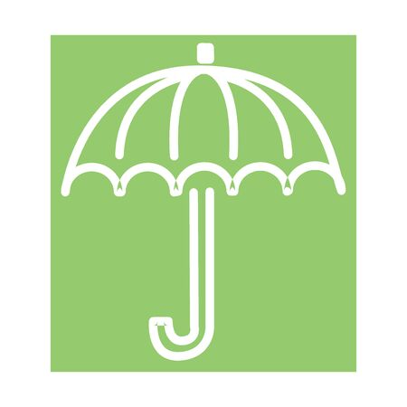 Umbrella closeup. Yellow umbrella icon. Yellow umbrella icon isolated on background