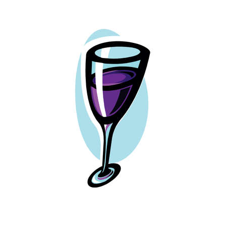 Red wine glass vector illustration isolated on a white background in EPS10