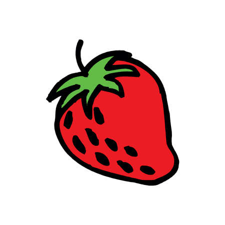 Strawberrie. Vector Eps 10 isolated on a white Illustration