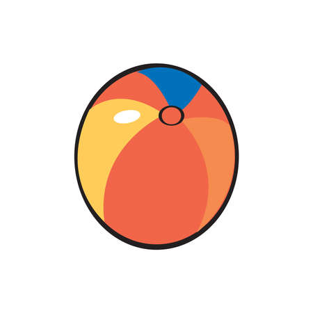 Beach ball. Vector illustration isolated on a white background