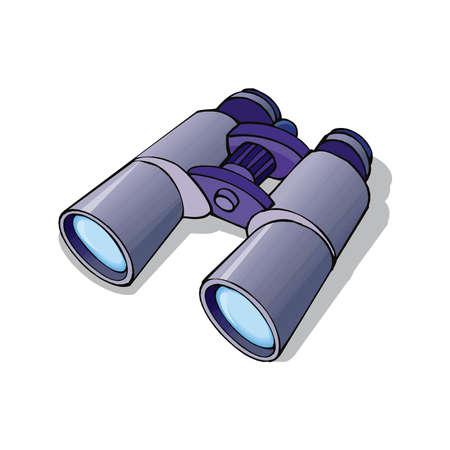 Grey binocular, binoculars isolated, binoculars icon, discovery in EPS10