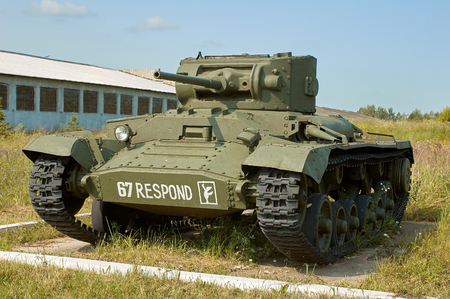 MOSCOW REGION, RUSSIA - JULY 30, 2006: Valentine Tank in the Tank Museum, Kubinka near Moscow Editorial