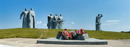 Dubosekovo, Russia - July 8, 2006: Panorama of the 28 Panfilov's Heroes Memorial in the place of the Battle of Dubosekovo during the Second World War, Nelidovo village, Moscow region