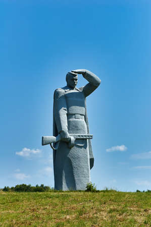 Dubosekovo, Russia - July 8, 2006: The 28 Panfilov's Heroes Memorial in the place of the Battle of Dubosekovo during the Second World War, Nelidovo village, Moscow region Editorial