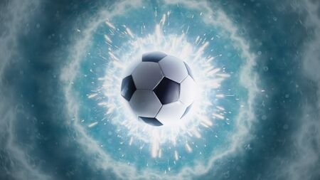 Soccer energy. Panorama Stock Photo