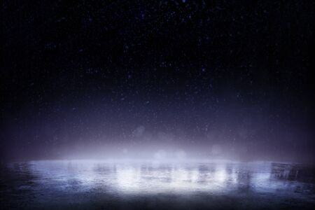 Beautiful ice background. Realistic ice and snow on dark background Фото со стока