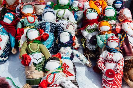 talisman: Ukrainian souvenir - a knitted toy talisman. doll without a face