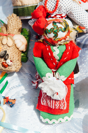 talismán: Ukrainian souvenir - a knitted toy talisman. doll without a face