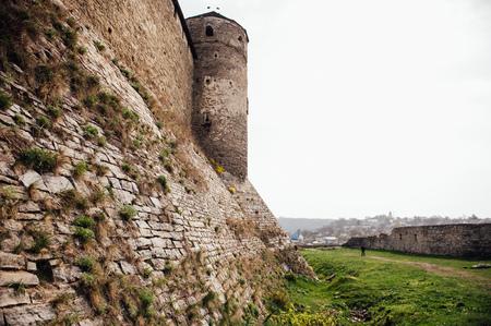 firmness: medieval castle fortress in Kamenetz-Podolsk. Ukraine. general form