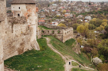 firmeza: medieval castle fortress in Kamenetz-Podolsk. Ukraine. general form