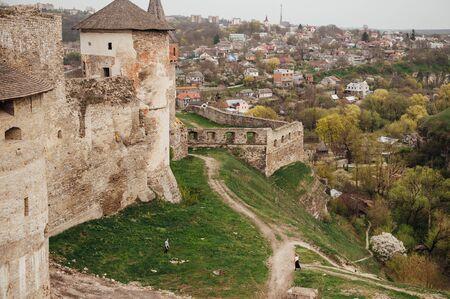 firmeza: fortaleza medieval castillo. Ucrania. Foto de archivo