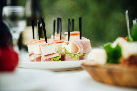 wedding place in garden and banquet catering zone Stock Photo