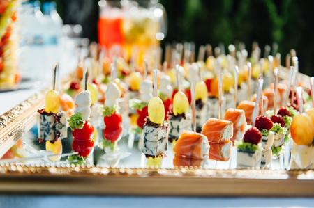 Delicious canapes as event dish Reklamní fotografie