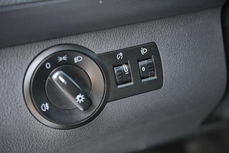 interior of a modern car with steering wheel Standard-Bild