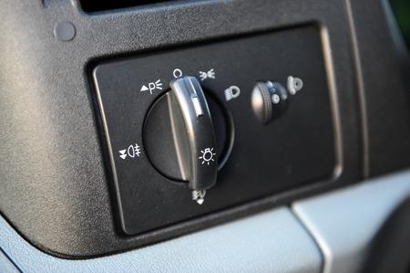 controls near the steering wheel in a modern car Standard-Bild - 116293652