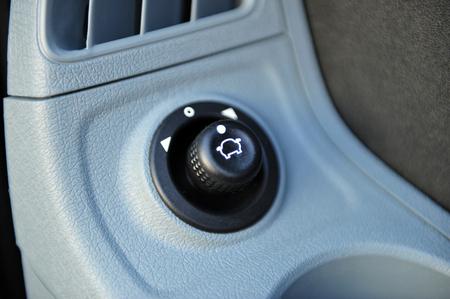 controls near the steering wheel in a modern car Standard-Bild - 116293658