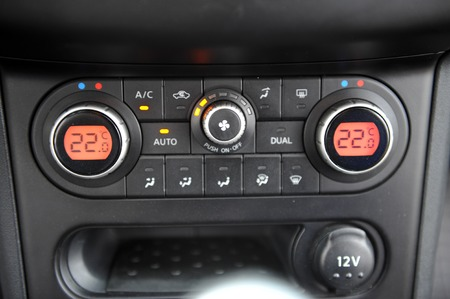 controls near the steering wheel in a modern car Standard-Bild - 116293803