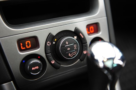 controls near the steering wheel in a modern car Standard-Bild - 116293808