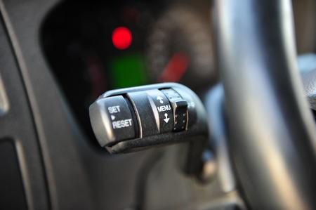 controls near the steering wheel in a modern car Standard-Bild - 116293811