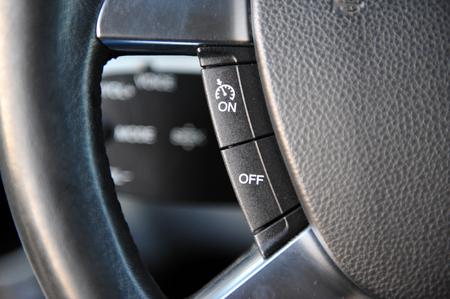 controls near the steering wheel in a modern car Standard-Bild - 116293812