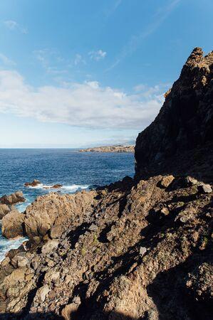 Breaking waves on the coast of Tenerife island, Canary islands, Atlantic ocean, Spain